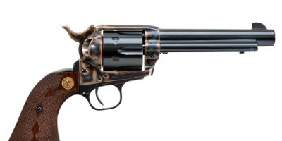 Photo of a SASS Third-Generation Colt SAA, featuring restoration-grade metal finishes by Turnbull Restoration of Bloomfield, NY