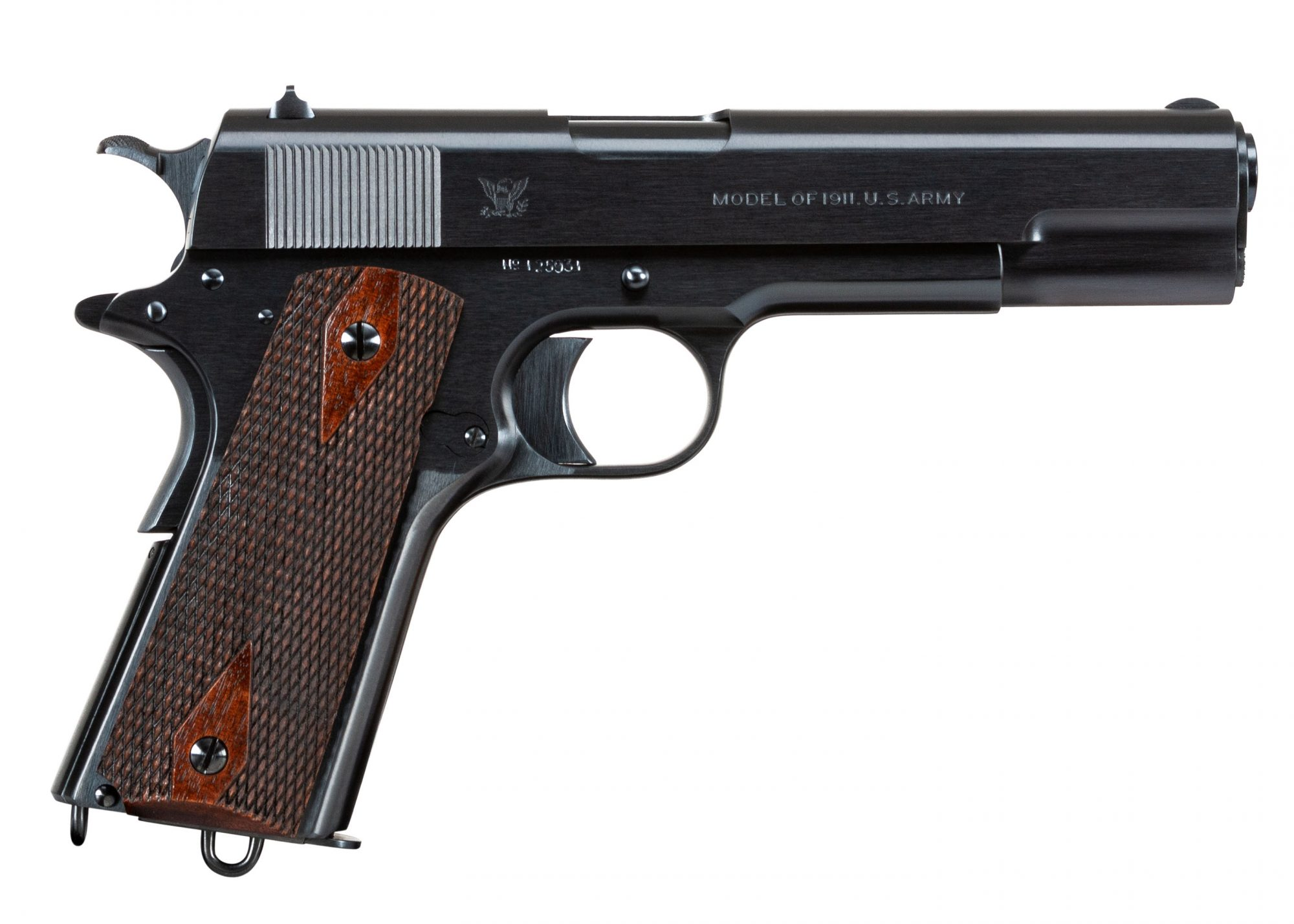 Photo of a restored Springfield Armory Model 1911, restored and for sale by Turnbull Restoration of Bloomfield, NY