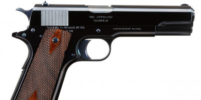 Photo of a Turnbull Commercial Model 1911, a 1912-era Model 1911 reproduction built by Turnbull Restoration the experts of classic Model 1911 restoration