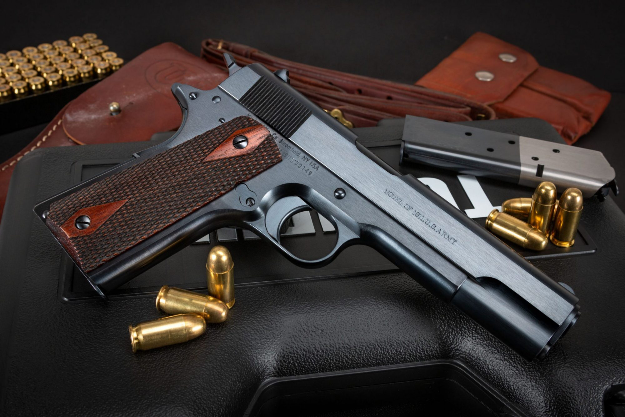 Photo of a Turnbull Model 1911 U.S. Army, a WWI-era Model 1911 reproduction built by Turnbull Restoration the experts of classic Model 1911 restoration
