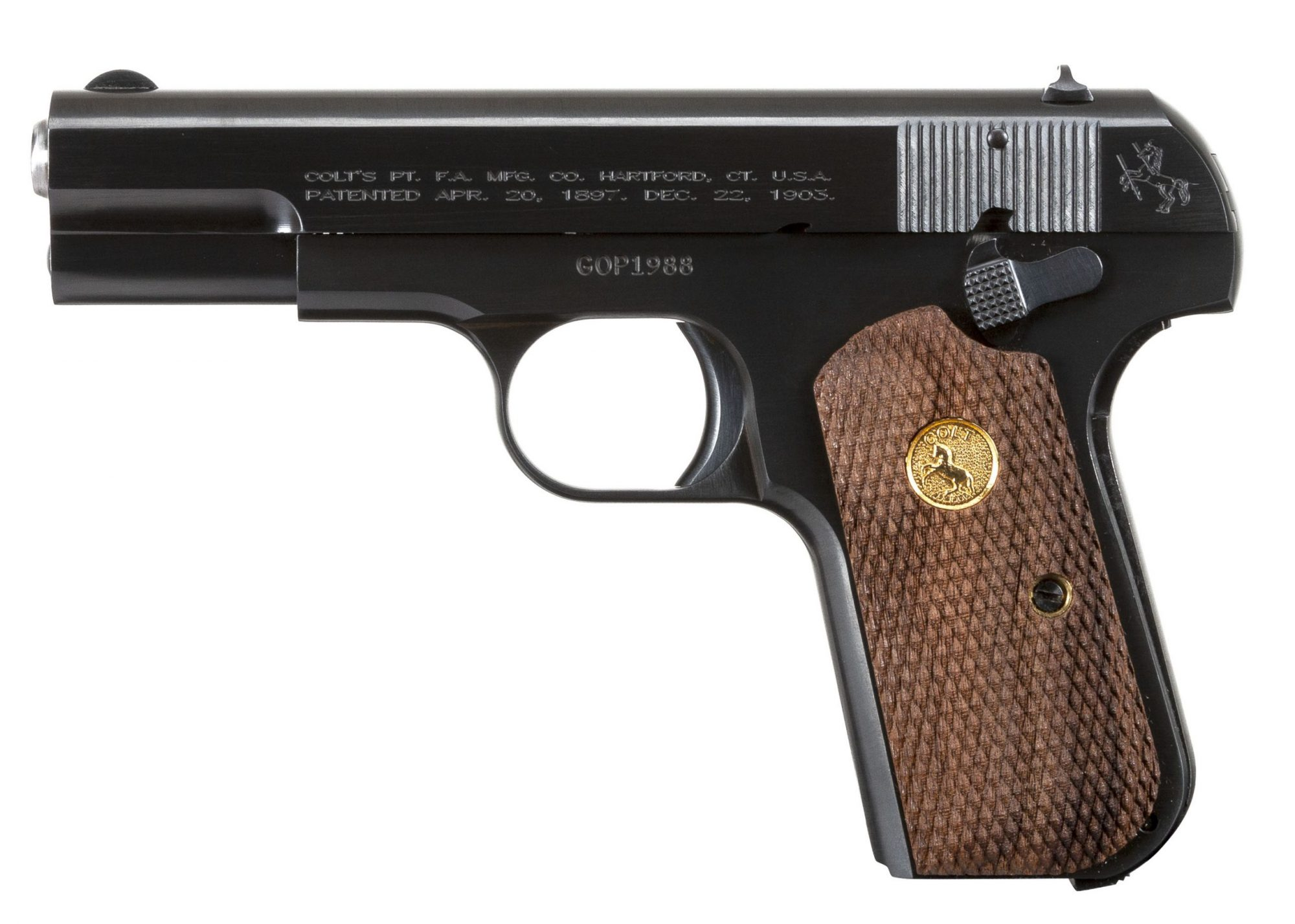 Photo of a Colt Model 1903 Pocket Hammerless in .32 ACP, for sale by Turnbull Restoration of Bloomfield, NY