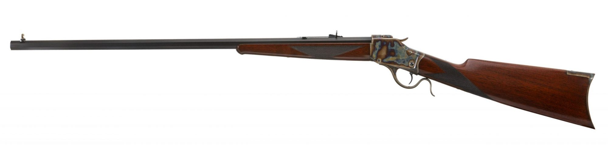 Photo of a Winchester Model 1885 from 1891, restored by Turnbull Restoration in 2006