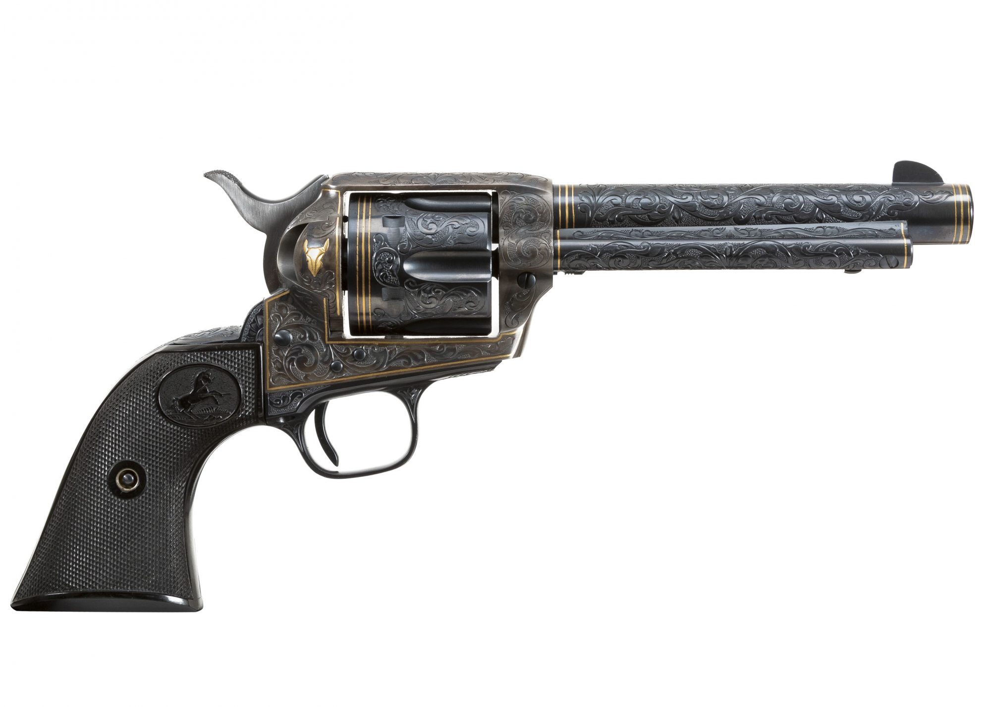 Photo of a 2nd Generation Colt Single Action Army revolver, restored and for sale by Turnbull Restoration of Bloomfield, NY