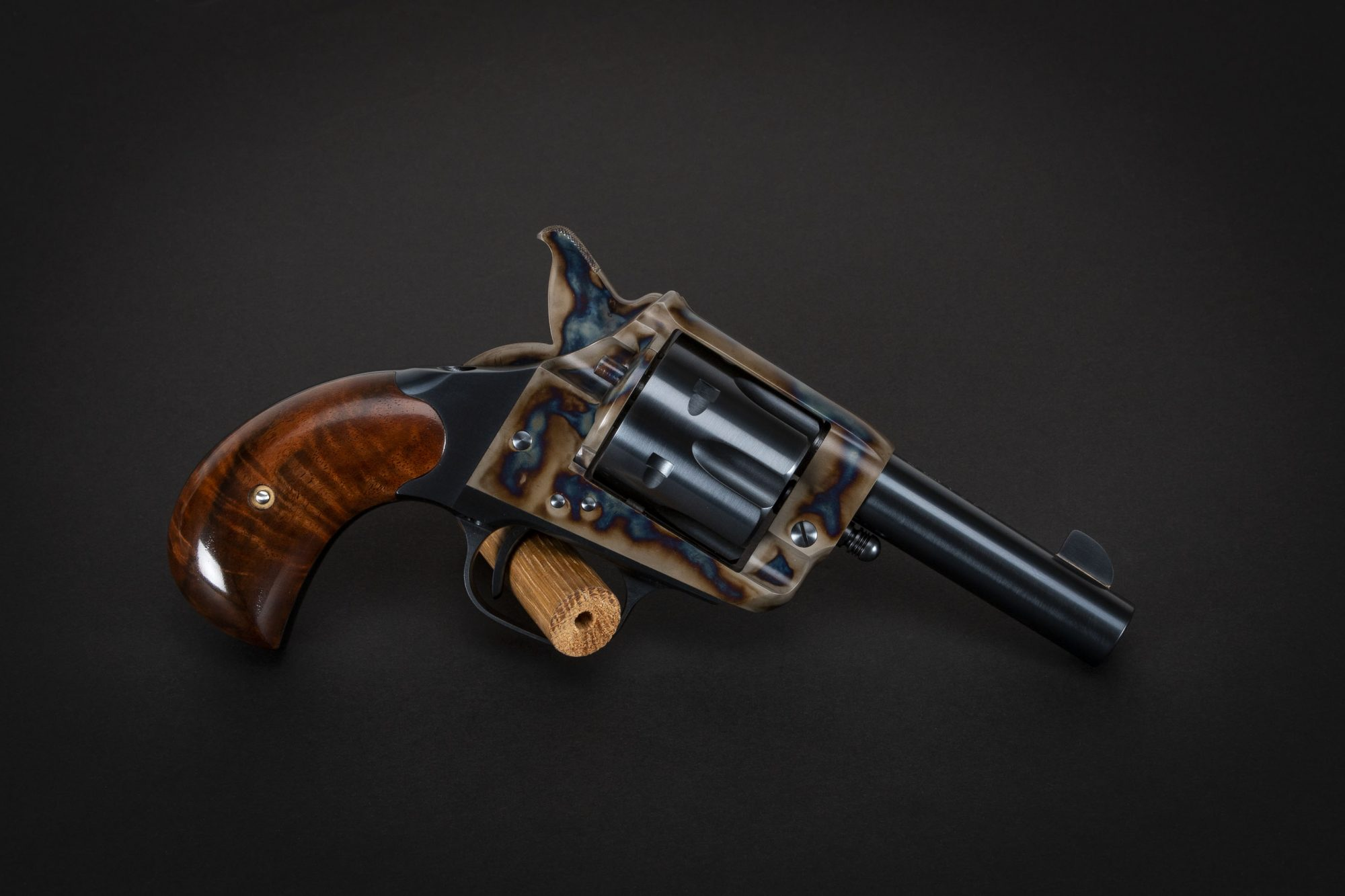 Photo of a U.S. Fire Arms (USFA) Forehand & Wadsworth single action revolver, featuring restoration-grade metal finishes by Turnbull Restoration of Bloomfield, NY