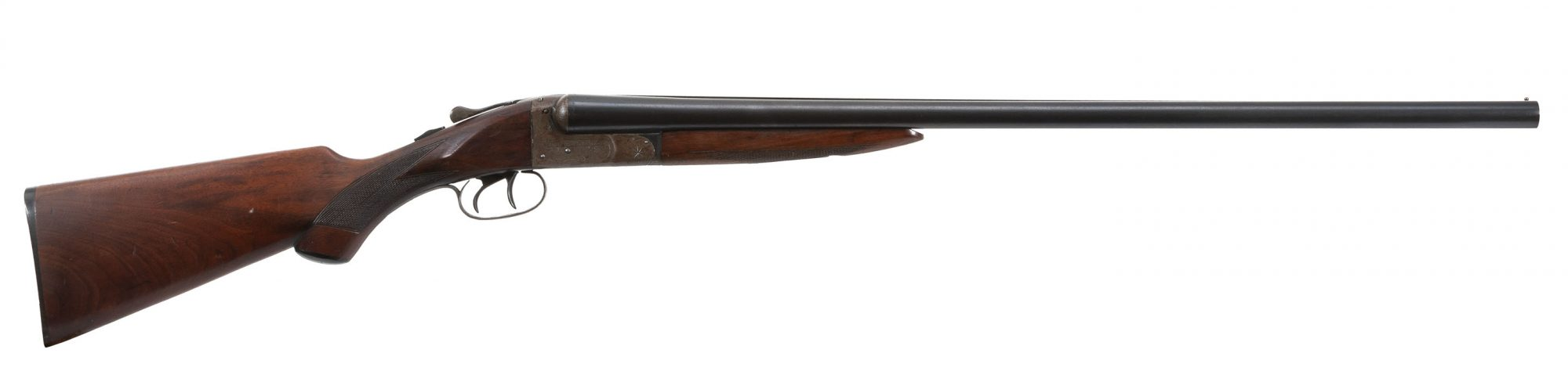 Photo of a pre-owned Ithaca Flues 12 gauge side by side shotgun, for sale by Turnbull Restoration of Bloomfield, NY