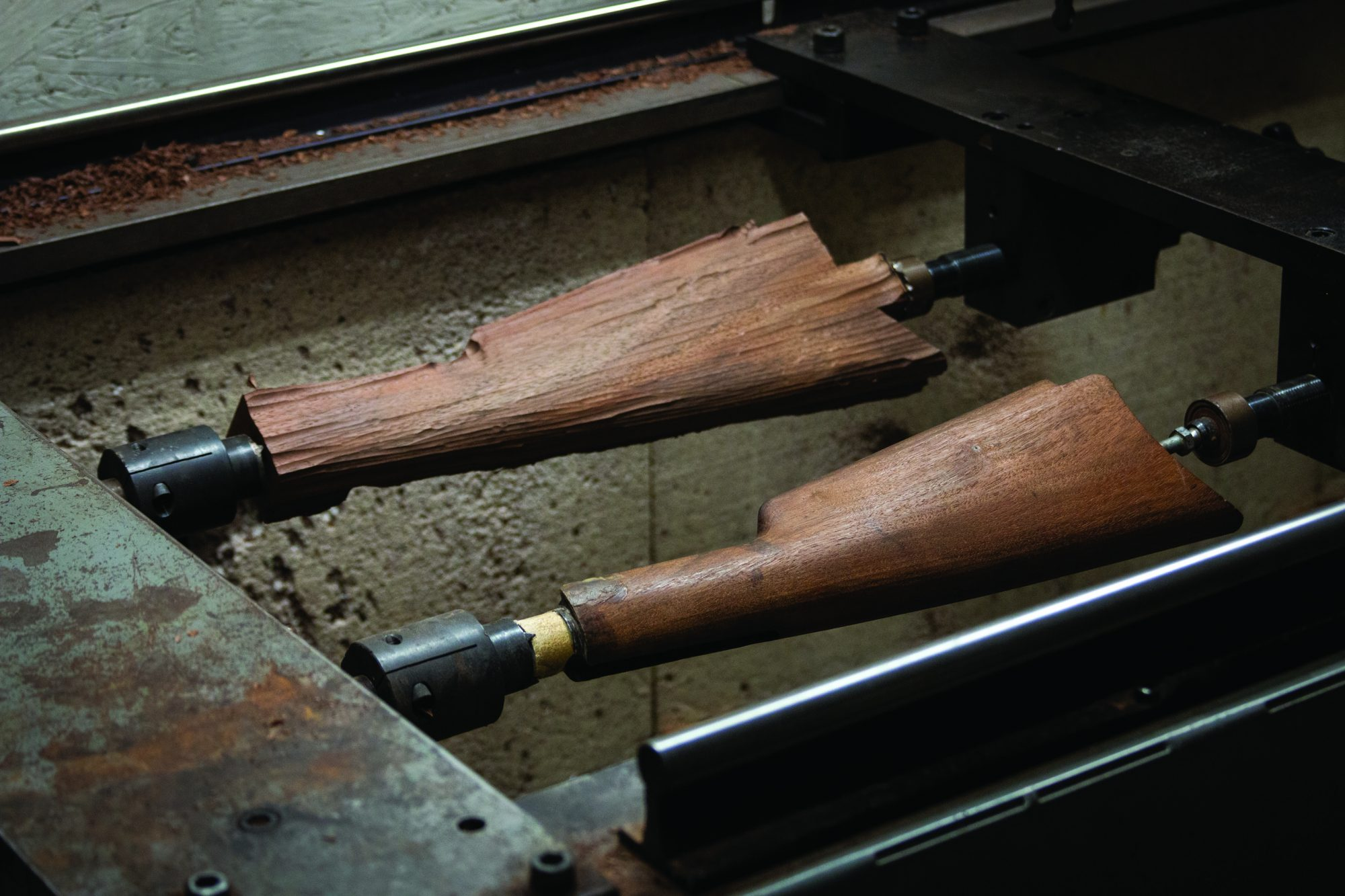 Photo of a Winchester Model 1892 from 1900 undergoing restoration in 2019 by Turnbull Restoration Co. of Bloomfield, NY