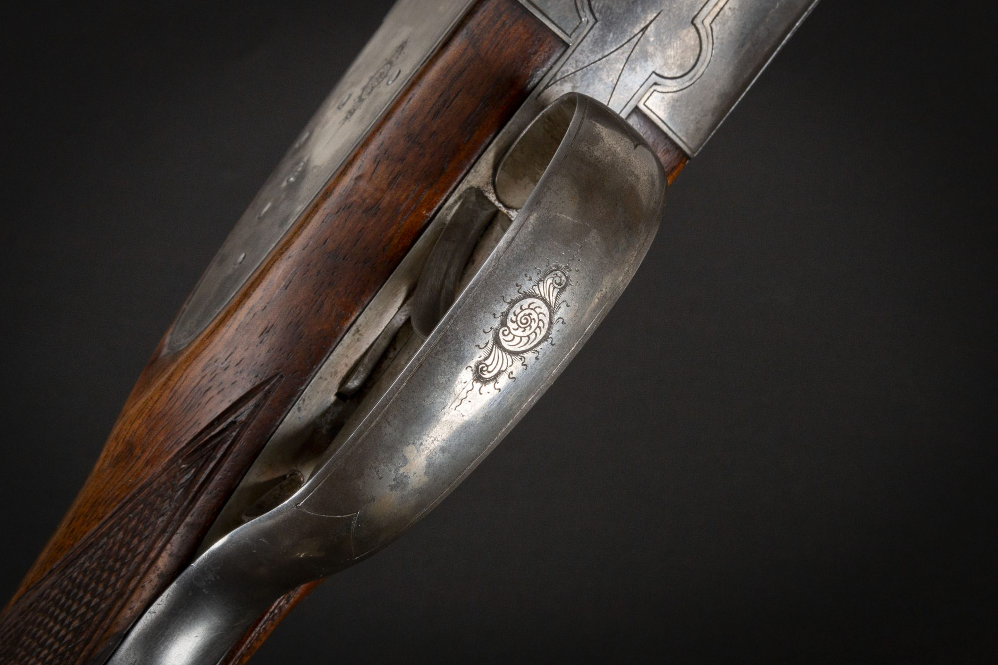 Photo of a J.P. Sauer 20 gauge side-by-side shotgun from 1903, for sale by Turnbull Restoration of Bloomfield, NY