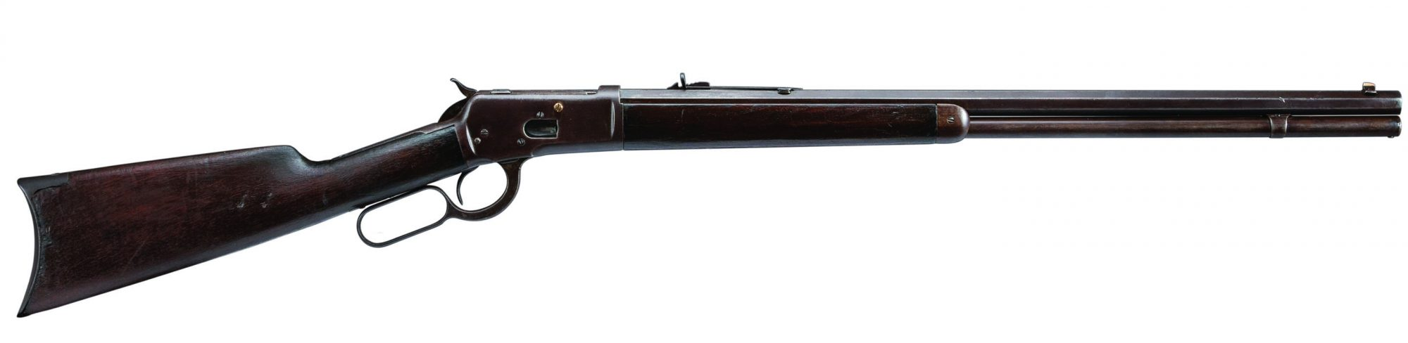 Photo of a Winchester Model 1892 from 1900 before restoration in 2019 by Turnbull Restoration Co. of Bloomfield, NY