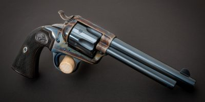 Photo of a Colt SAA Bisley from 1899, restored in 2002 and for sale now by Turnbull Restoration of Bloomfield, NY